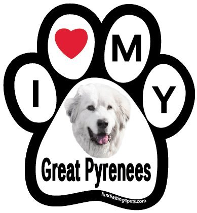 Love Great Pyrenees Paw Magnet