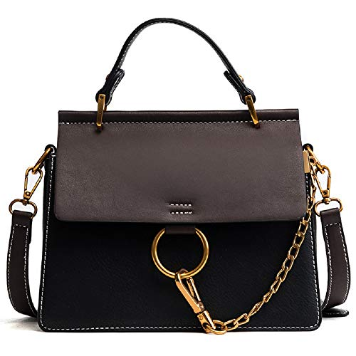 MASARA Women Genuine Leather Crossbody Shoulder Purse Chain Link FY Bag