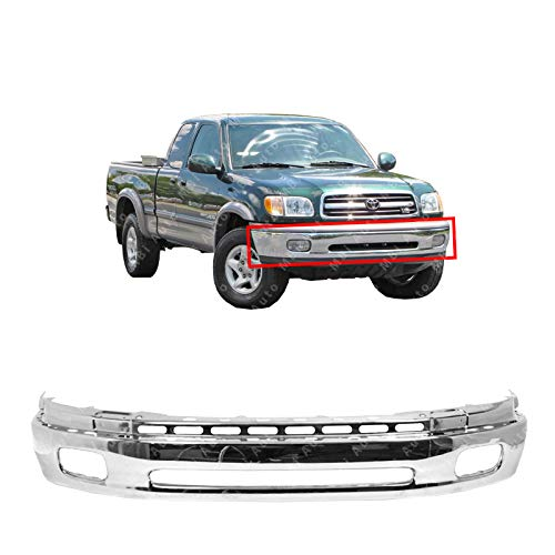 MBI AUTO - Chrome, Steel Front Bumper Face Bar for 2000-2006 Toyota Tundra Pickup w/Fog 00-06, TO1002170