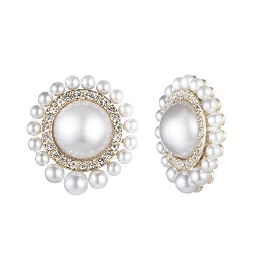 Carolee Women'sLarge Pearl Stud Clip Earring