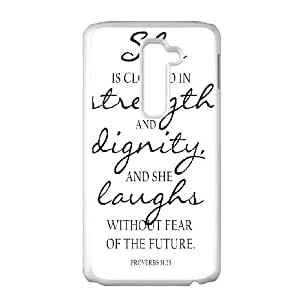 Strength And Dignity LG G2 Cell Phone Case White vbz