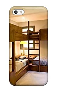 Premium Durable Kids8217 Room With Bunk Beds For Four Children And Neutral Carpet Fashion Tpu Iphone 5/5s Protective Case Cover