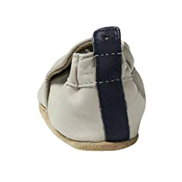 Robeez Baby Boys Baseball Sports Sneaker Leather Baby Crib Shoes 6-12 Mths Blue