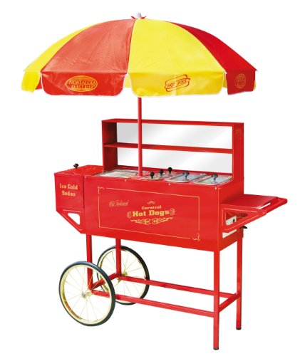 (Nostalgia Electrics™ HDC701 Vintage Collection™ Carnival Hot Dog Cart & Umbrella (Nostalgia Electrics HDC-701 Vintage Collection Carnival Hot Dog Cart & Umbrella))