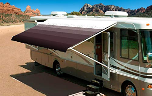 (Shade Pro RV Awning Fabric Replacement Heavy Duty Vinyl (14' (Fabric 13'2