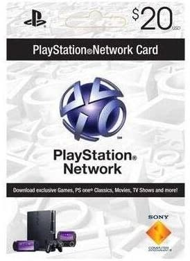 Sony PlayStation 94781 PSN 20 dollar live card