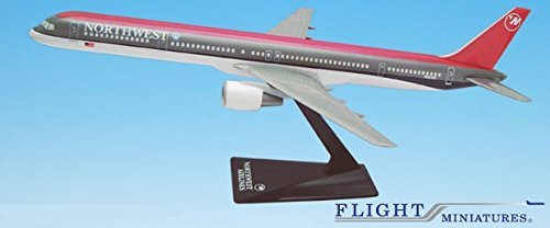 Northwest (89-03) Boeing 757-300 Airplane Miniature Model Plastic Snap Fit 1:200 Part# ABO-75730H-004