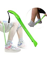 Fanwer Sock Remover and Shoe Horn(2 in 1) - Sock Aide Device for Seniors Hands-Free Adaptive Dressing Aid Shoehorn