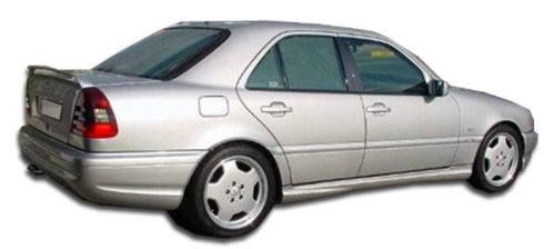 1994-2000 Mercedes C Class W202 Duraflex C43 Look Side Skirts Rocker Panels - 2 Piece (Overstock) (Body C43 Kit Look)