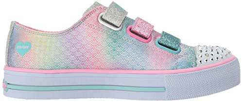 Lona Silver De Zapatos Para Multi Pequeños Niños Chicas Sirena Skechers Baraja w0q4OO8