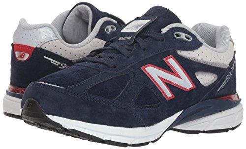 New Balance Boys' 990v4 Sneaker, Blue/Red, 6.5 M US Big Kid by New Balance (Image #6)