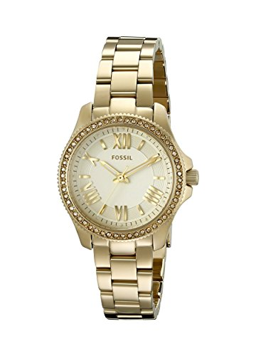 Fossil Women's AM4577 Cecile Small Gold-Tone Stainless Steel Watch