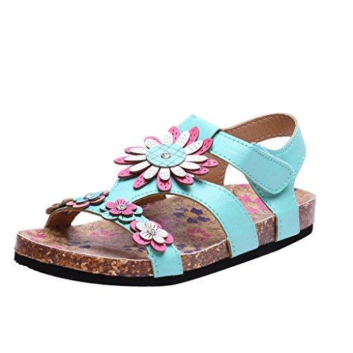 Coshare Kid's Fashion Birkenstock-style Soft Footbed Little Girl Cork Sandals