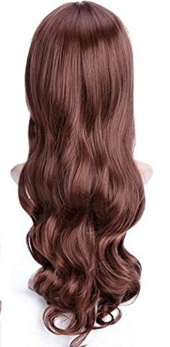[YunNasi Women's Cosplay Wigs Long Big Wave Spiral Curly Hair (Honey color(neat))] (Pirate Makeup Female)