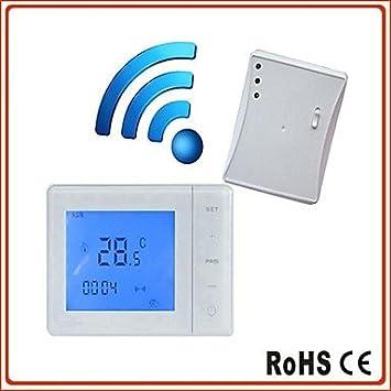 pantalla lcd hy01rf pared programable digital montada termostatos inalámbricos calderas para calefacción ambiente (16 bis