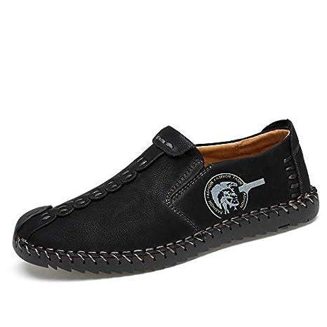 10ee713bd659 Amazon.com: JingZhou Handmade Casual Shoes for Men Leather Flats ...