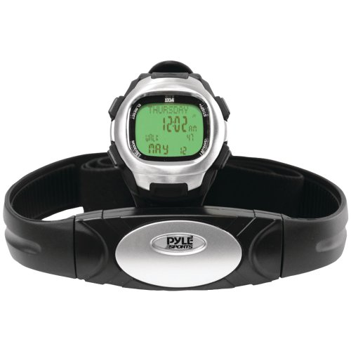 Pyle Sports PHRM22 Marathon Heart Rate Watch with USB and 3D Walking/Running Sensor (Marathon Heart Rate Monitor)