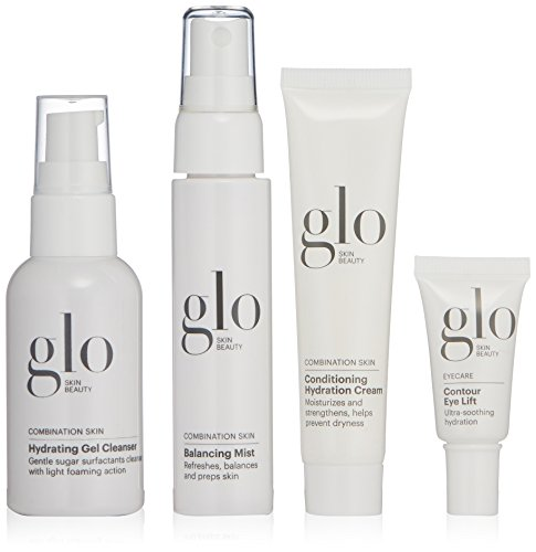 Glo Skin Beauty 4-Piece Travel Skincare Set for Combination Skin | Skin Care Kit for Skin with Oily and Dry Patches from Glo Skin Beauty