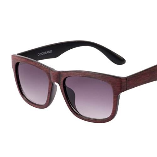 57dc105455 Galleon - Classic Vintage Style Wood Print Frame   GradientRamp UV400 Lens  Sunglasses.(Brown)
