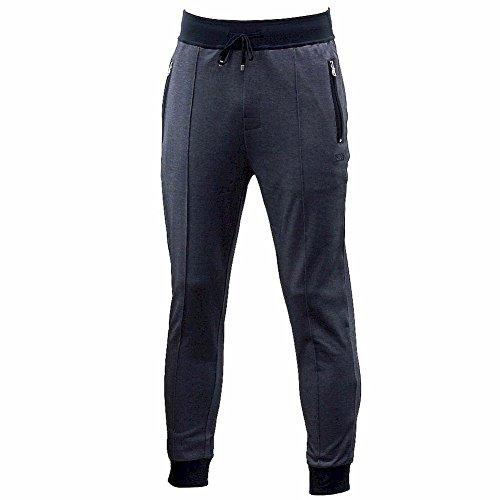 Hugo Boss Men's Long Pants Cuff Dark Blue Stretch Lounge ...