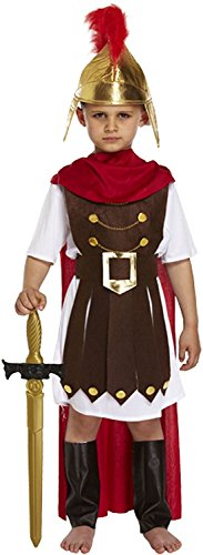 Childs Roman Toga Costume (Henbrandt Little Boys' Ren Roman General Emperitor Toga Soldier Costume Age 4-6 Years As Shown In Picture)