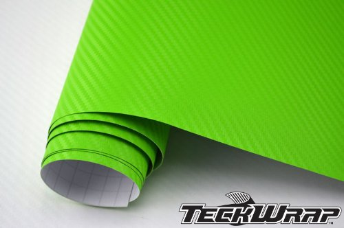 TeckWrap 7 X 5 Feet Apple Green 3d Carbon Fiber Vehicle Decoration Wrapping Sticker Bubble Free (35 Square Foot)