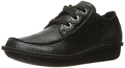 Clarks Womens Funny Dream Oxford Zwart Leer