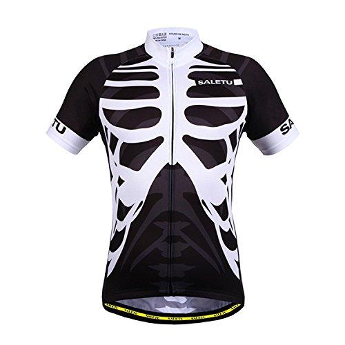 QIXFU Radsportbekleidung feuchtigkeitsabsorbierendes Kurzarmtrikot Atmungsaktives Atmungsaktives Atmungsaktives Mesh-Radsport-Shirt Radtrikot