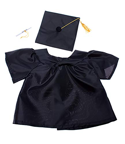 Graduation Gown w/Hat & Scroll Outfit Teddy Bear Clothes Fits Most 14