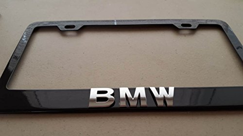 bmw-3d-black-metal-license-frame-with-screw-caps-included