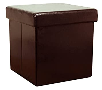 Lovely Brown Faux Leather Storage Box By THE MORE SHOP