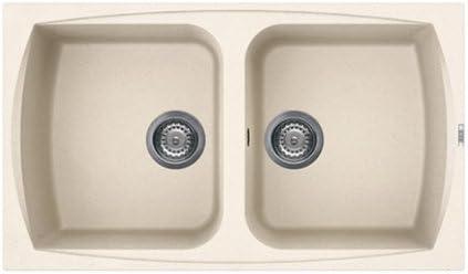 Lavello Cucina 2 Vasche Senza Gocciolatoio.Lavello Cucina Living Incasso 86x50 2 Vasche Senza