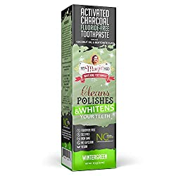 My Magic Mud - Activated Charcoal Toothpaste, Natural, Whitening, Detoxifying, Wintergreen, 4 Ounce (Pack of 1)