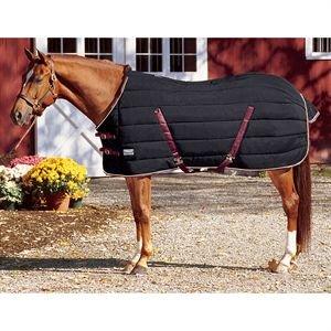 - Rider's by Dover Saddlery Supreme Stable Blanket - Black/burgundy/cream , 76