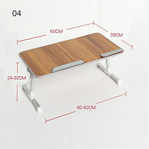 Muzyo Computer Desk Desk Lazy Person Notebook Computer Bed Up Desk Foldable College Dormitory Writing Small Table, 4 by Muzyo (Image #5)
