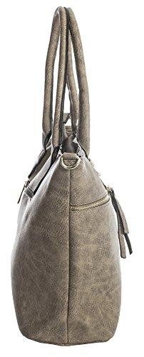 Design spalla Deep a donna Big Taupe 6 Shop Handbag Borse cHW4RCn7