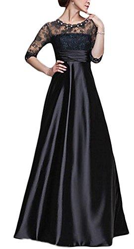 ... Maxikleid Abendkleid Schwarz Fv8nUUj4. B06WVBR3F6. YOGLY Damen Kleid  Lace Blume Spitze Stickerei Rundhals 3 4 Arm Festliches Langes Chiffonkleid  ... 0f82760ebc