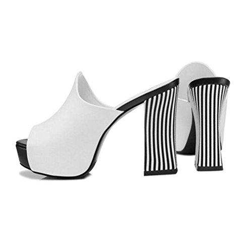 Hit Poisson Prom Talons Open Toe Plateforme Sandales White Sandals Bouche Xdgg Rugueux Imperméable Couleur Femmes Pantoufles Hauts EH6wxqggf