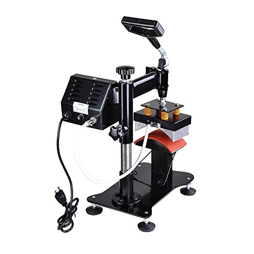 "Yescom 5 1/2"" x 3"" Desktop Iron Cap Heat Press Machine w/Mounting Clamp Baseball Hat Digital Transfer Sublimation"