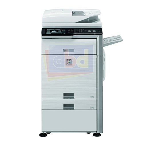 Refurbished Sharp MX-4111 Tabloid-size Color Multifunction Printer - Copy, Print, Scan, Document Filing, 2 Trays, Cabinet, Auto Duplex, DSPF, 41 ppm