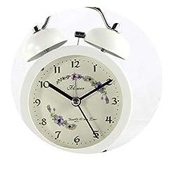 Jfoier fashion hat Student Metal Creative Home Decor Desktop Alarm Clocks Children Silent Night Light Double Bell Bedside Quartz Alarm Clock