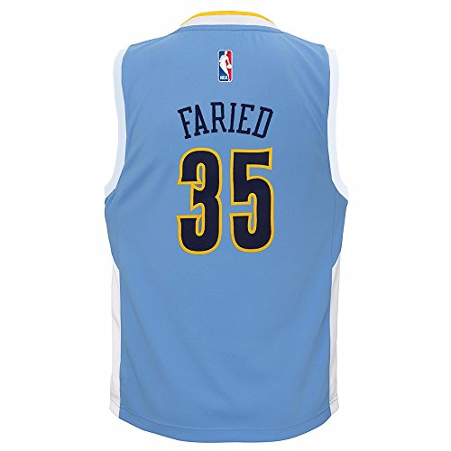 adidas Kenneth Faried Denver Nuggets NBA Toddler Light Blue Official Road Replica Basketball Jersey (4T)