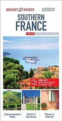 South Of France Map Detailed.Insight Guides Travel Map Southern France Insight Guides