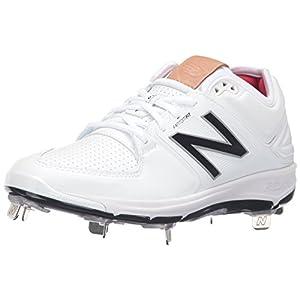 New Balance Men's L3000v3 Metal Baseball Shoe, White/White, 9.5 D US