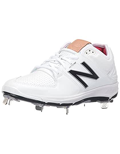 New Balance Men's L3000V3 Baseball Shoe, Black/White, 8.5 2E US