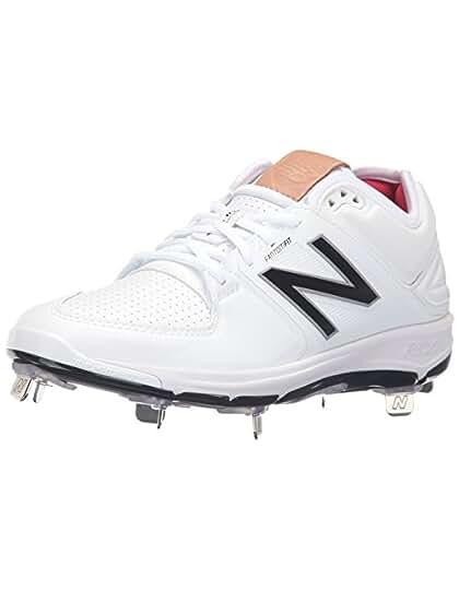 New Balance Men's mu460v3 Baseball Shoes, Black/White, 10 2E US