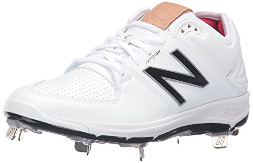 New Balance Men's L3000v3 Metal Baseball Shoe, White/White, 9.5 D US Athletic Baseball Cleats