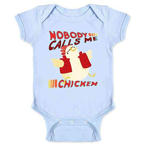 Pop Threads Nobody Calls Me Chicken Light Blue 6M Infant Bodysuit