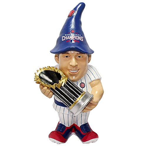 Chicago Cubs Garden Gnome - FOCO MLB Chicago Cubs Anthony Rizzo Unisex Rizzo A. #44 2016 World Series Champions Resin Player Gnome