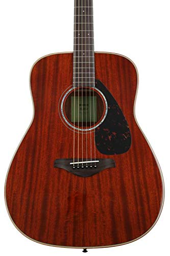 Yamaha FG850 Solid Top Acoustic Guitar, Mahogany by YAMAHA